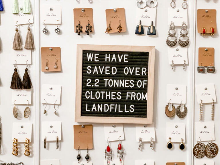 learrings and message display by le prix clothing