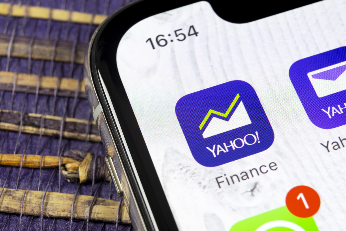 yahoo finance app on a cell phone, one of the best investing apps