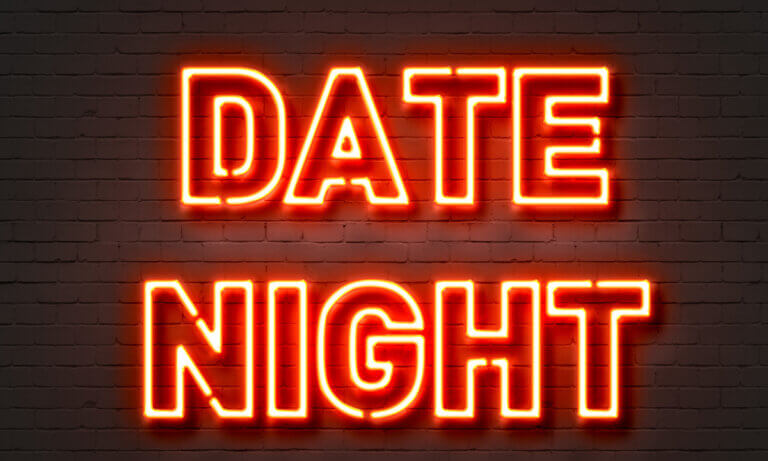 neon date night sign for regina date ideas